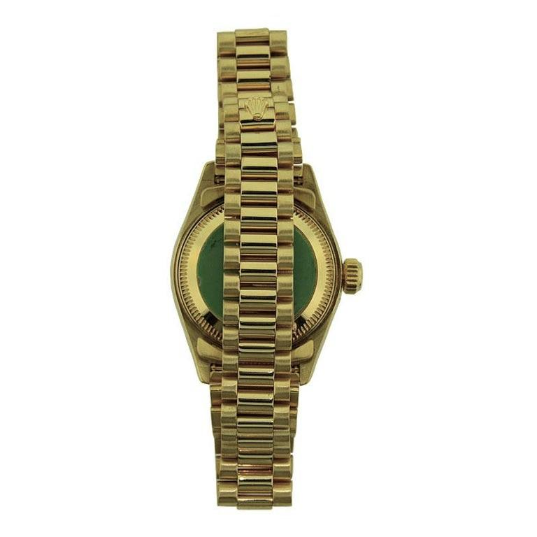Women's Rolex 18 Karat Yellow Gold Ladies President Series For Sale