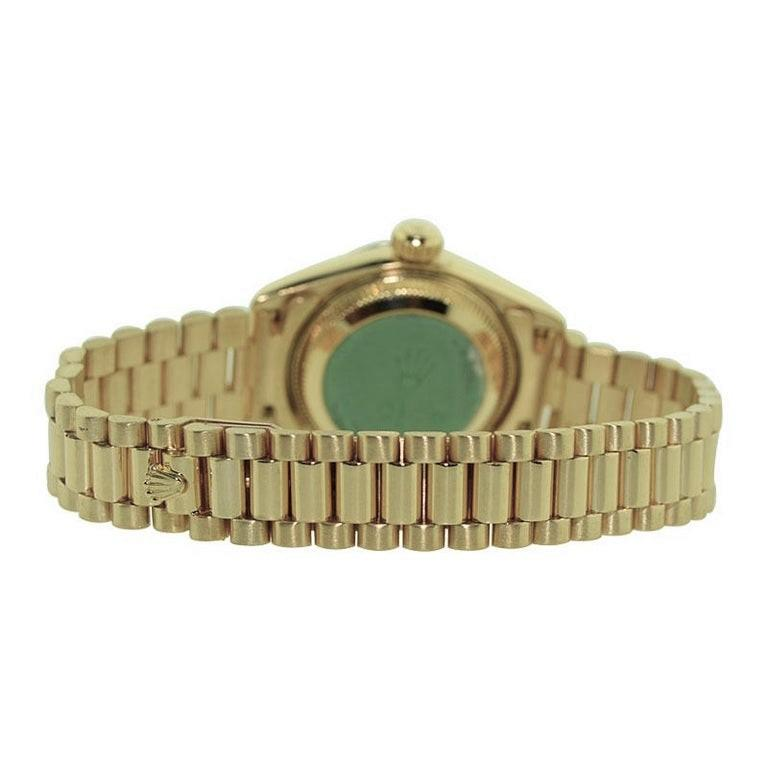 Rolex 18 Karat Yellow Gold Ladies President Series For Sale 1