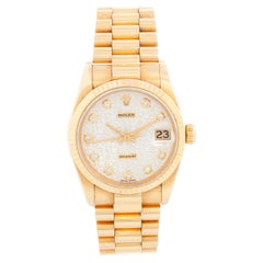 Rolex 18 Karat Yellow Gold President Midsize Watch 68278