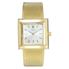 Rolex 18 Karat Yellow Gold Ultra Thin Dress Watch with Original Mesh Bracelet