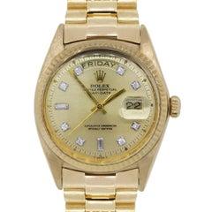 Rolex yellow gold Diamond Presidential 1803 Day Date Automatic Wristwatch