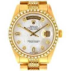 Rolex 18038 18 Karat Yellow Gold Single Quick Day-Date President Watch