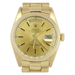Rolex 18038 Day-Date 18 Karat Yellow Gold Champagne Dial Watch