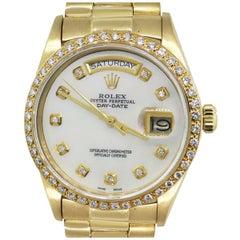 Rolex 18038 Mother of Pearl Diamond Bezel Watch