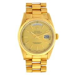 Rolex 18238 President Double Quick 18 Karat Gold Champagne Dial Men's Watch