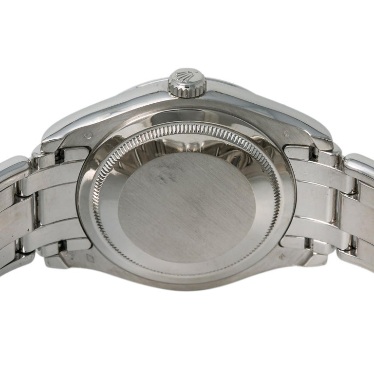 Rolex 18946 Day-Date Platinum Masterpiece Tahitian MOP Mens Automatic Watch 39mm For Sale 1