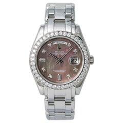 Rolex 18946 Day-Date Platinum Masterpiece Tahitian MOP Men's Automatic Watch