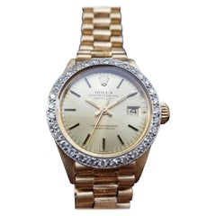 Rolex 18k Gold Ladies Datejust 6917 Automatic w/Diamond, c.1975 Swiss Lux LV889