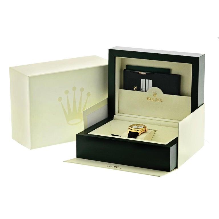Modern Rolex 18 Karat Gold Roman Datejust 116138 Watch For Sale