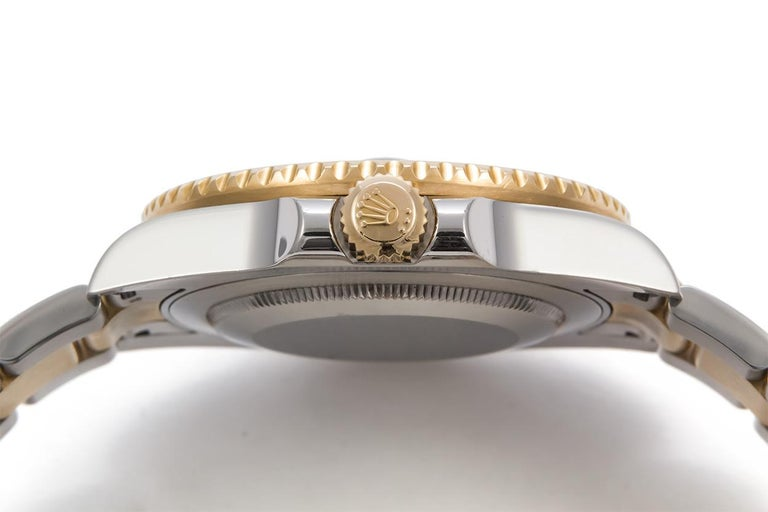 Rolex 18 Karat Gold and Stainless Steel Ceramic GMT Master II 116710 For Sale 2