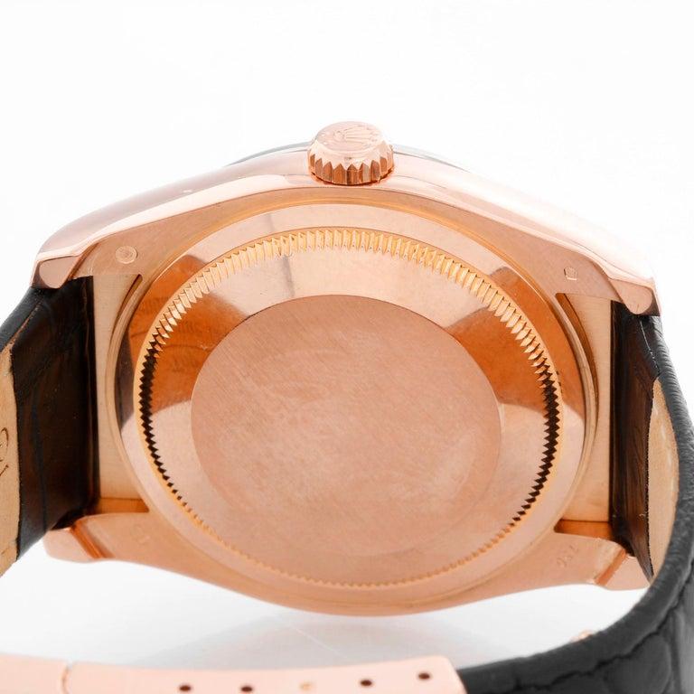 Men's Rolex 18 Karat Rose Gold Datejust Mother of Pearl Watch 116185 For Sale