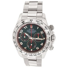 Rolex 18 Karat White Gold Cosmograph Daytona 40 Watch with Black Arabic Dial
