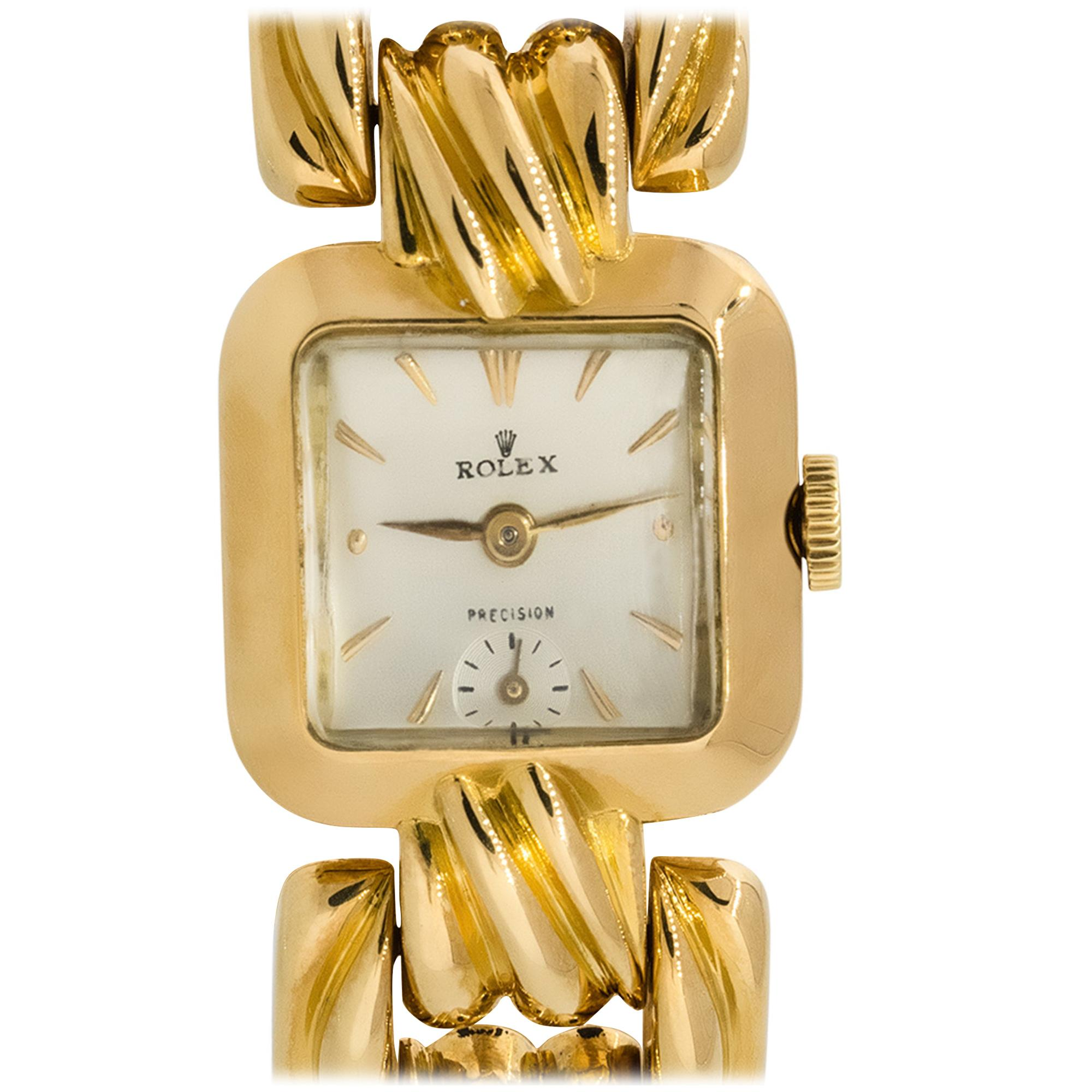 Rolex 18k Yellow Gold Antique Small Ladies Watch