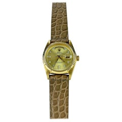 Rolex 18K Yellow Gold Diamond Dial Day-Date President Automatic Watch 1970s