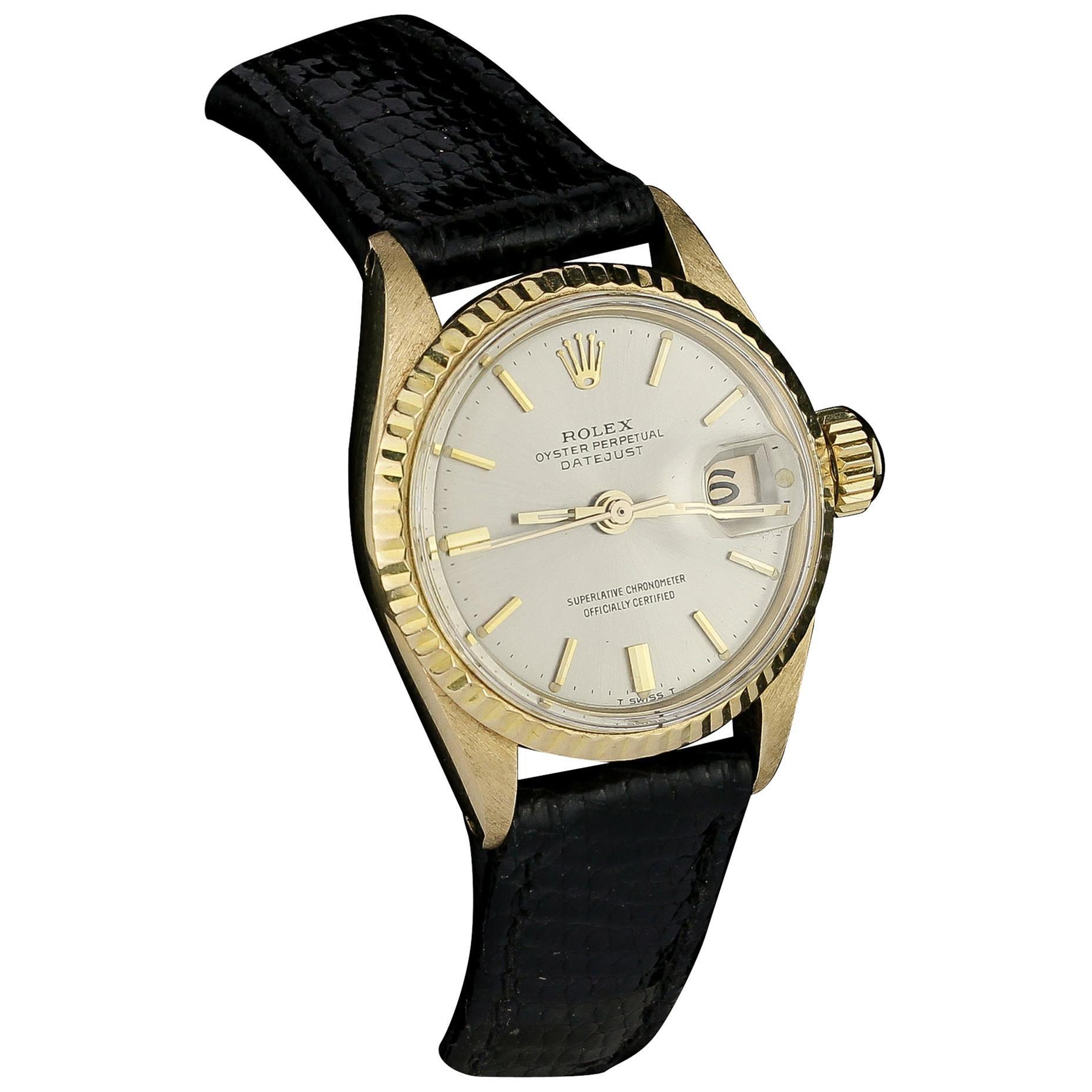 Rolex 18kt Gold Ladies Datejust Ref 6517-8, Circa 1969