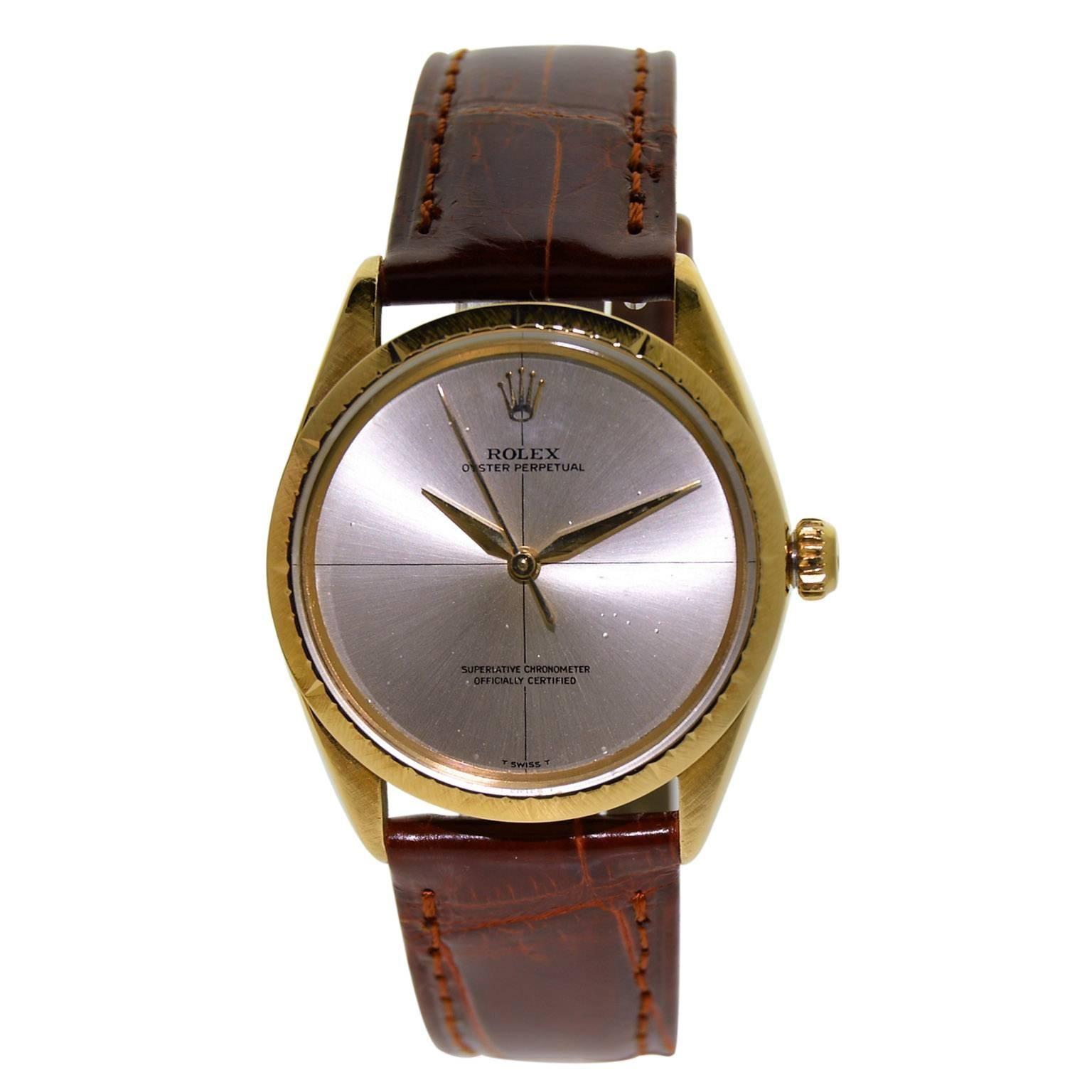 Rolex Yellow Gold Zephyr Perpetual Wind Wristwatch Ref 1009, circa 1967