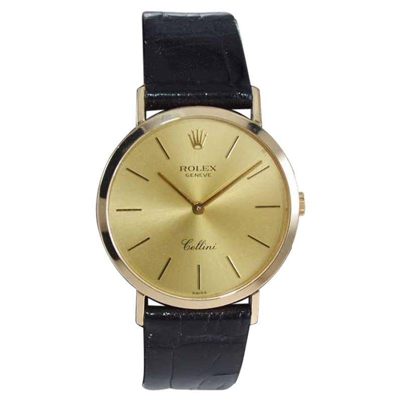 Rolex 18Kt Solid Yellow Gold Cellini Ref. 4112 New Old Stock Condition in Box
