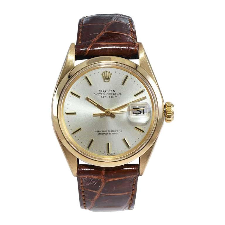 Rolex 18kt Yellow Gold Oyster Perpetual Date from 1970