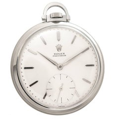 Rolex Stainless Steel Manual Wind Pocket Watch, 1940s