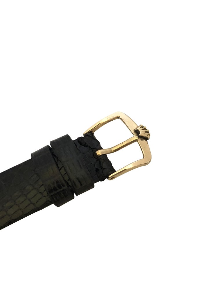 Rolex 1940s Yellow Gold Automatic Bubble Back Wristwatch For Sale 1