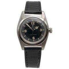 Rolex 1946 Steel Bubbleback Self Winding Wrist Watch