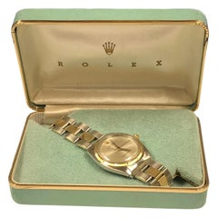Rolex 1950 Steel and Yellow Gold Zephyr Bezel Automatic Wristwatch and Box