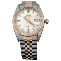 Rolex 1954 Rose Gold and Steel Reference 6305 Automatic Wristwatch