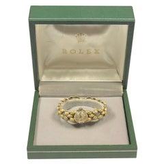 Rolex 1960s Yellow Gold Ladies Mechanical Bracelet Wristwatch