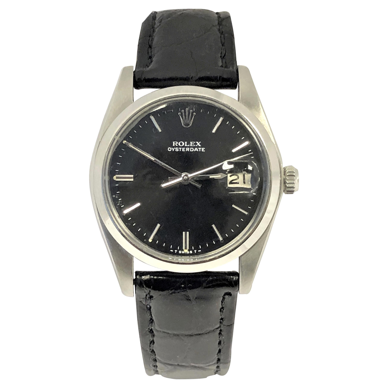 Rolex 1970s Oyster Date Steel Mechanical Wristwatch