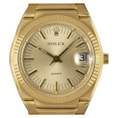 Rolex 1970s Vintage Texan Beta 21 Yellow Gold Champagne Dial 5100 Quartz Watch