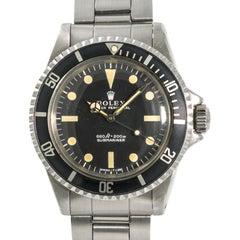 Rolex 1972 Submariner 5513 Serif Herren Automatik Vintage Uhr Edelstahl