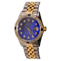Rolex 2-Tone Datejust Mother of Pearl and Diamonds Automatic Dial 18k Gold Watch