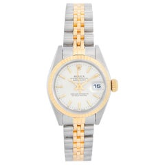 Rolex 2-Tone Datejust Steel and Gold Ladies Watch 69173