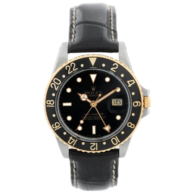 Rolex 2-Tone GMT-Master 16753 on a Strap For Sale
