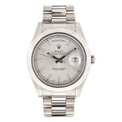 Rolex 218239 President Day Date II 18 Karat White Gold Automatic Watch