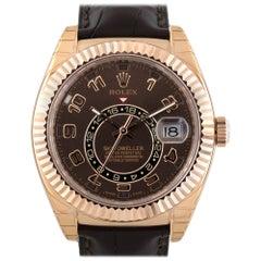 Rolex 326135 Skydweller 18 Karat Rose Gold Chocolate Dial Watch