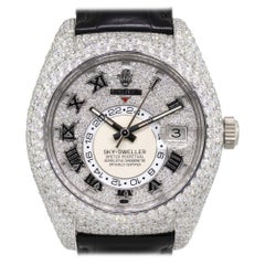 Rolex 326139 Skydweller 18 Karat White Gold All Diamond Watch