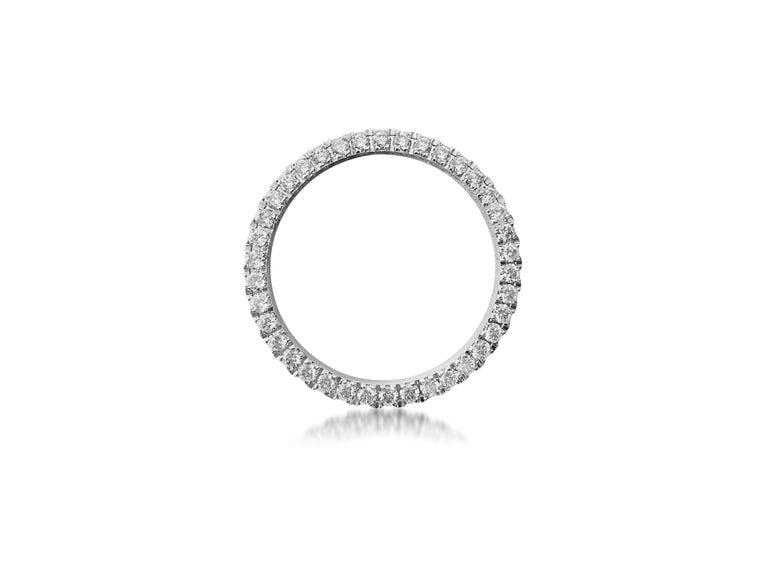 Round Cut Rolex Diamond Bezel, 2.50ct VVS Diamonds For Sale