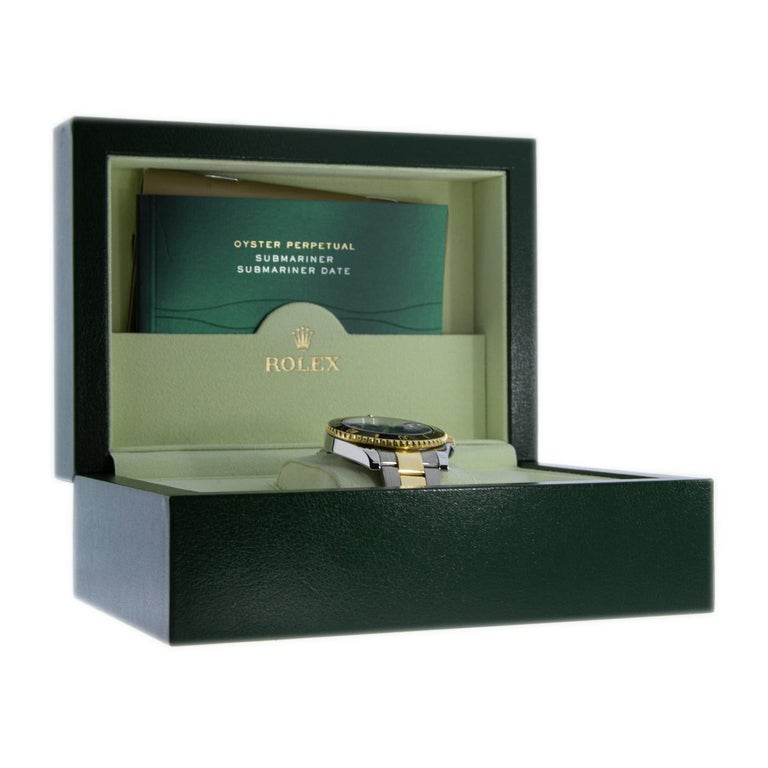 Rolex Two-Tone Submariner Watch with Black Dial, Model 116613 In Excellent Condition For Sale In Columbia, MO