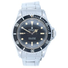 Rolex 5513 Submariner No Date Steel Men's Oyster Bracelet Watch 1967 Mint