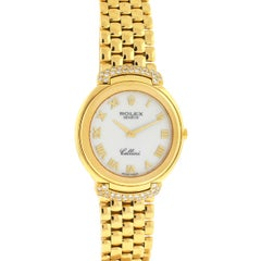 Rolex 6623 Diamond Cellini 18 Karat Yellow Gold Ladies Watch