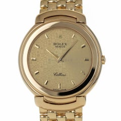 Rolex 6623 S Cellini Champagne Jubilee with Papers 18kt Yellow Gold Quartz Watch