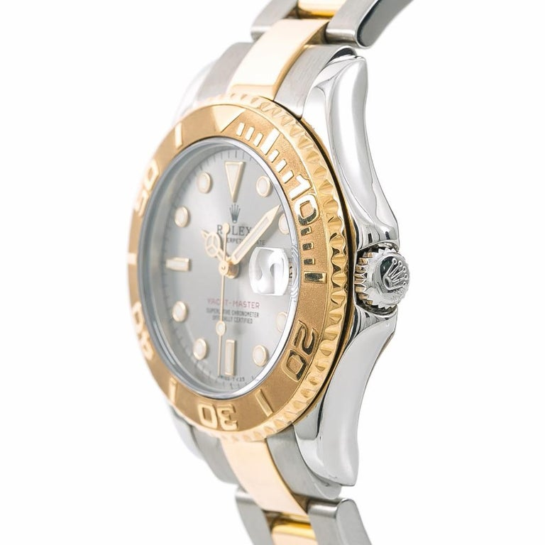 Rolex 68623 Yacht-Master Unisex Two-Tone Stainless Steel Automatic Watch In Excellent Condition In Miami, FL