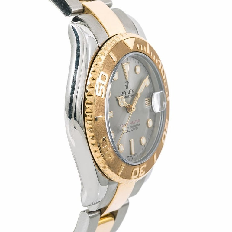 Women's Rolex 68623 Yacht-Master Unisex Two-Tone Stainless Steel Automatic Watch