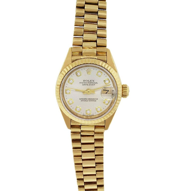 Rolex 6916 Datejust Champagne Diamond Dial Ladies Watch