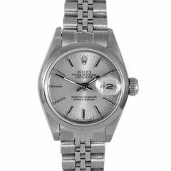 Damen Datejust Rolex 69160, Silber Zifferblatt, Glatte Lünette und Jubilee-Band
