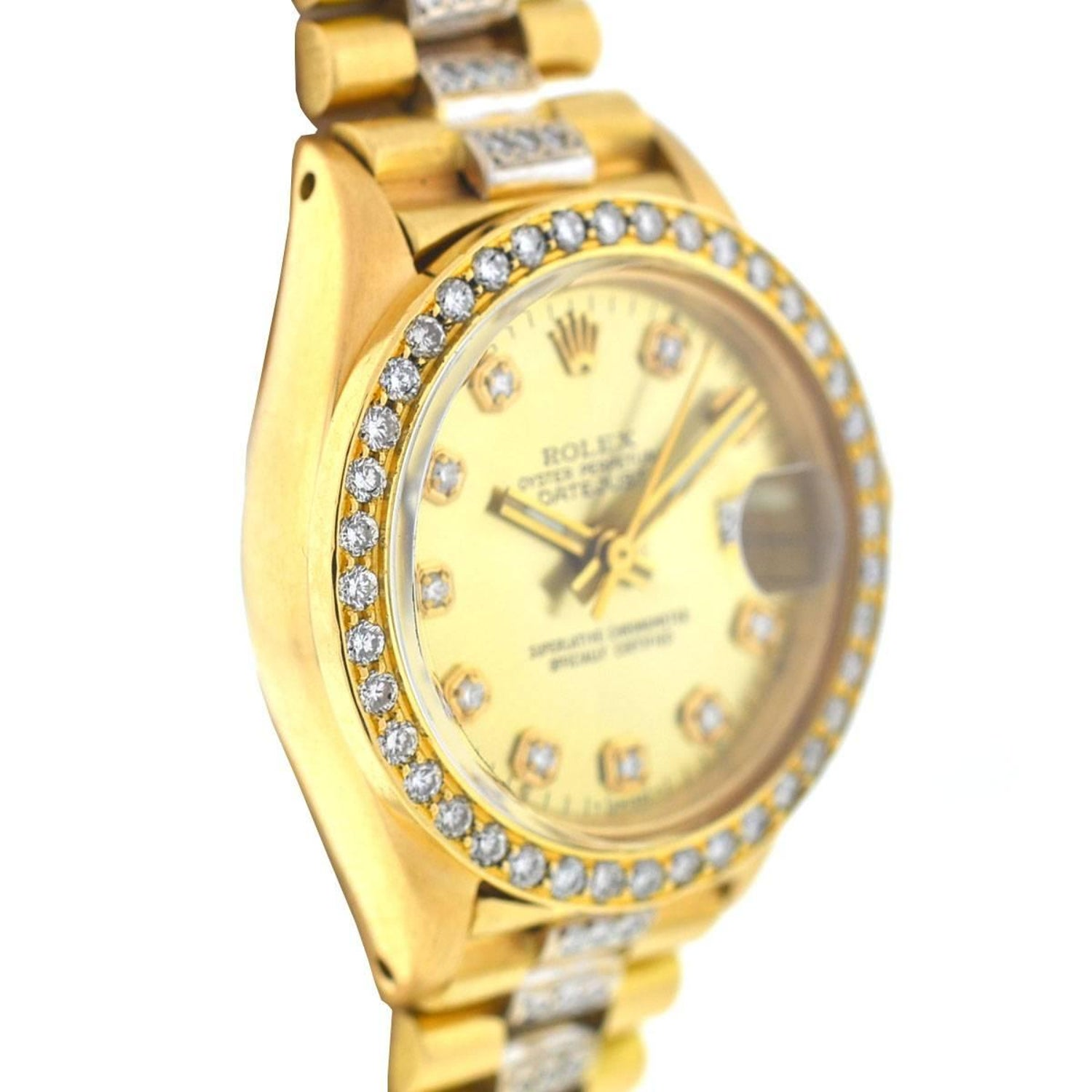 watches gold in president consign rolex presidential diamond day yellow buy sell date used watch