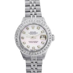 Rolex 6917 Datejust Diamond Bezel Mother of Pearl Ladies Watch
