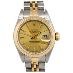 Rolex 6917 Datejust Two-Tone Champagne Dial Ladies Watch
