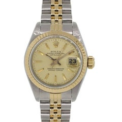 Rolex 69173 Datejust Tapestry Dial Two Tone Wrist Watch